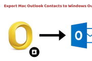 Export Mac Outlook Contacts to Windows Outlook