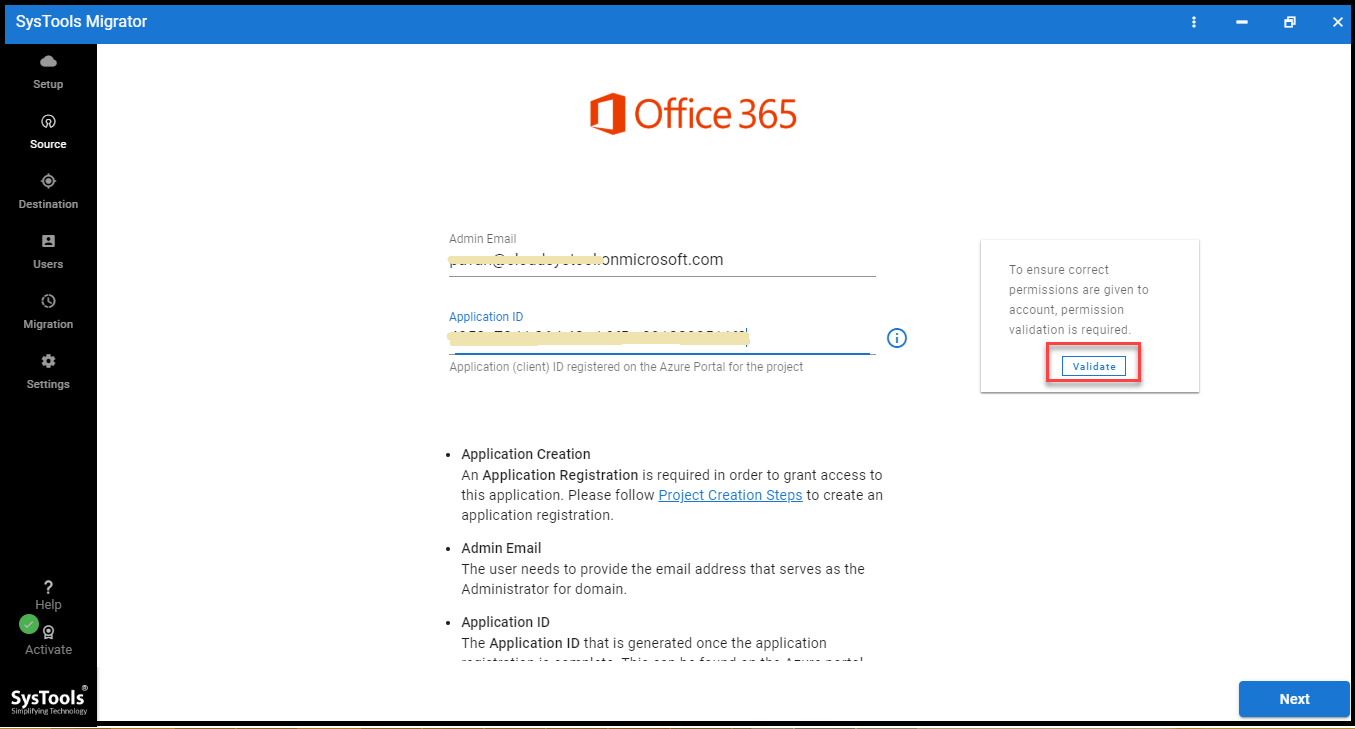 office 365 admin credentials