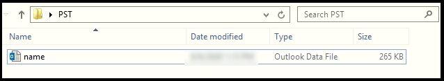output file