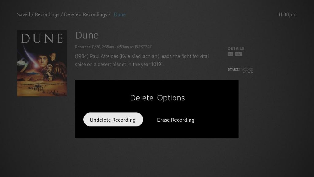 can you recover deleted dvr recordings spectrum