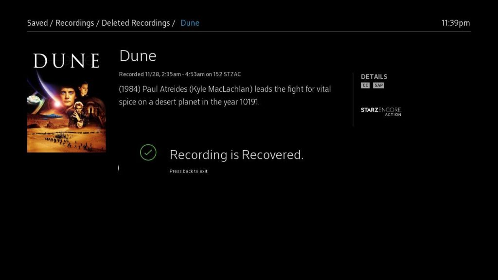How do I recover deleted DVR recordings?