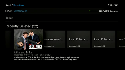 recover deleted shows on directv hd dvr