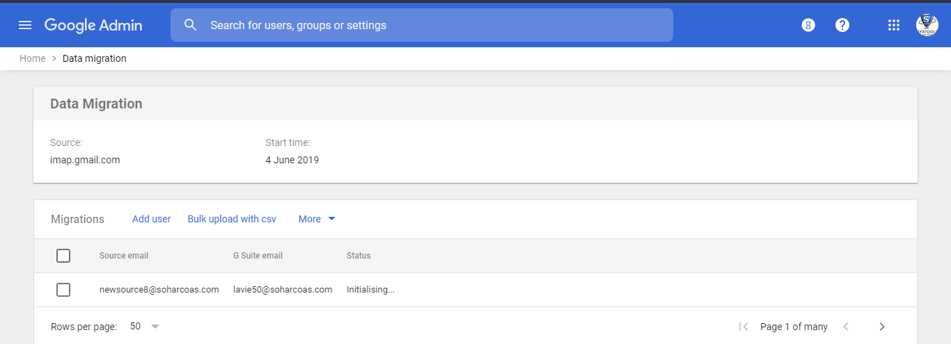 migrate emails to Google Workspace